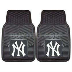 MLB New York Yankees Vinyl Heavy Duty Car Mat - Set of Two