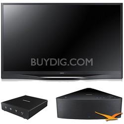 "PN64F8500 - 64"" 1080p 3D Wifi Plasma HDTV with SHAPE Audio Bundle - Black"