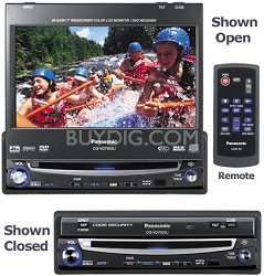 "CQ-VD7005U In-dash DVD player with 7"" LCD w/ AM/FM Tuner and MP3/WMA Playback"
