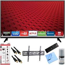 """E43-C2 - 43"""" E-Series 120Hz 1080p Smart LED HDTV Plus Tilt Mount Hook-Up Bundle"""