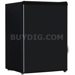 2.4 Cubic Feet Single Reversible Door Compact Refrigerator in Black - WHS87LB1