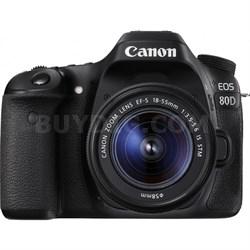 EOS 80D 24.2 MP CMOS Digital SLR Camera w/ EF-S 18-55mm f/3.5-5.6 IS STM Lens