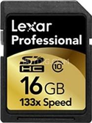 16GB Lexar Professional 133x Secure Digital High Capacity SD Card