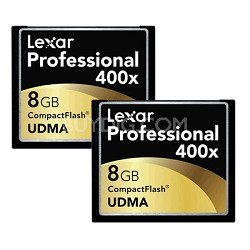 Professional 400x CF 2-Pack 8 GB Memory Cards
