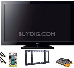 """KDL40BX450 - 40"""" 1080p LCD HDTV Value Bundle"""