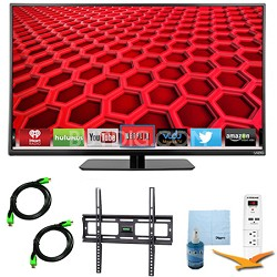 E390i-B - 39-Inch Smart LED HDTV 1080p 120Hz Plus Mount & Hook-Up Bundle
