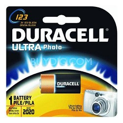6-Pack of 123A 3V Lithium Photo Batteries