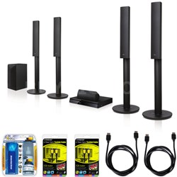 LHB655 5.1ch 1000W 3D Blu-ray Disc Player Home Theater System Bundle