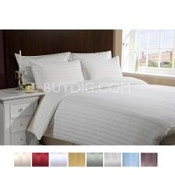 Luxury Sateen Ultra Soft 4 Piece Bed Sheet Set QUEEN-WHITE