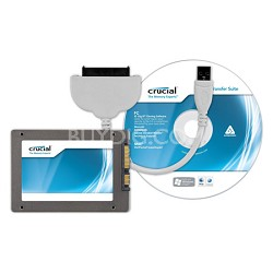 """128GB m4 SSD 2.5"""" SATA 6Gb/s Solid-State Drive with Data Transfer Kit"""