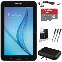 "Galaxy Tab E Lite 7.0"" 8GB (Wi-Fi) Black 32GB microSD Card Bundle"