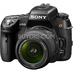 Alpha DSLR-A560 14.2 MP SLR Camera w/ 18-55mm Lens and 1080i HD Video