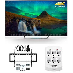 XBR-55X850C - 55-Inch 3D 4K Ultra HD Smart LED HDTV Flat/Tilt Wall Mount Bundle