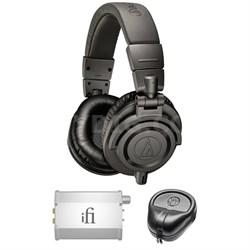Professional Studio Headphones - ATH-M50x w/ iFi Audio Port. Amp. Bu