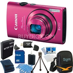 PowerShot ELPH 310 HS 12MP Pink Digital Camera 16GB Bundle