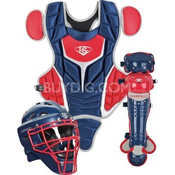 Youth PG Series 5 Catchers Set - Navy/Scarlet