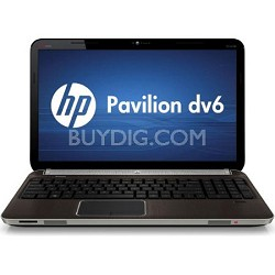 "Pavilion 15.6"" DV6-6140US Entertainment Notebook PC - AMD Quad-Core A8-3500M"