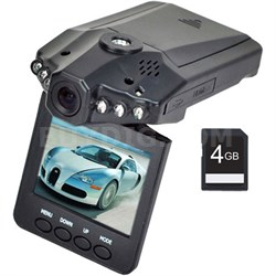 High Definition Dash Cam - Automotive HD DVR IR Night Vision + 4GB Memory Card