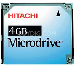 4GB Microdrive Blister Pack (Microdrive Only - No PC Card Adapter included)