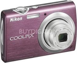 COOLPIX S230 Digital Camera (Plum)