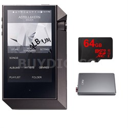 AK240 Mastering Quality Sound Dual DAC Prt.Music Plyr w/ FiiO A5 Amp Bundle