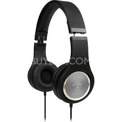 ST700 High Fidelity Over Ear Foldable Stereo Headphones (Black)