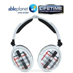 Extreme Noise Cancelling Foldable Headphones (White)