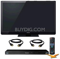"TC-P46ST30 46"" VIERA 3D FULL HD (1080p) Plasma TV Bundle with BDT110 3D Blu Ray"