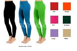 Seamless Full Length Leggings (Dark Green) One Size