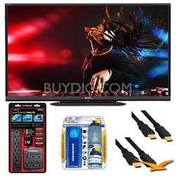 "LC-70LE650U Aquos 70"" 1080p Wifi 120Hz LED TV Plus Surge Protector Bundle"