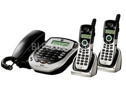 Corded 25881EE3 Phone with 5.8 GHz Cordless Dual Handsets + Answering Machine