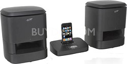 IS809B Wireless Speaker System with iPod Dock and Recharging Transmitter (Black)