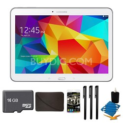 "Galaxy Tab 4 White 16GB 10.1"" Tablet, 16GB Card, and Case Bundle"