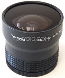 .22x Wide Angle Fisheye Lens for 58mm threading w/ 43, 46, 52 and 55mm rings
