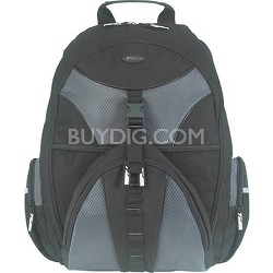 """TSB007US 15.4"""" Notebook Case Sport Backpack (Black with Platinum Accent)"""