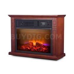 5200 BTU Comfort Glow Quartz Fireplace in Oak - QF4570R