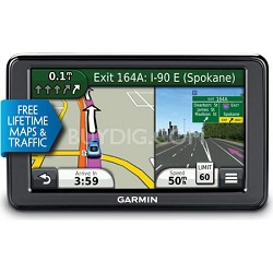 "2595LMT 5"" Portable Bluetooth GPS with Lifetime Maps and Traffic - Refurbished"