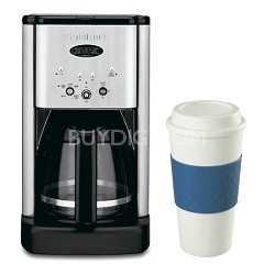 DCC-1200 Brew Central 12 Cup Programmable Coffeemaker 16 Oz. Mug Bundle