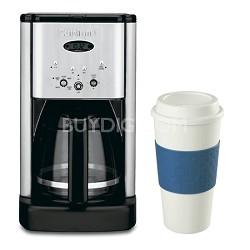 DCC-1200 Brew Central 12 Cup Programmable Coffeemaker 16 Oz. Mug Bundle