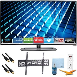 "M322i-B1 - 32"" Ultra-Slim LED 1080p 120Hz Smart HDTV Tilt Mount & Hook-Up Bundle"