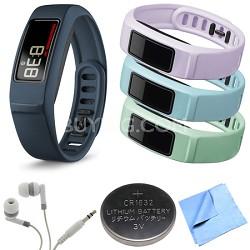 Vivofit 2 Bluetooth Fitness Band (Navy)(010-01503-02) Mint/Cloud/Lilac Bundle