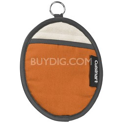 Cotton Oval Pot Holder with Silicone- Rust