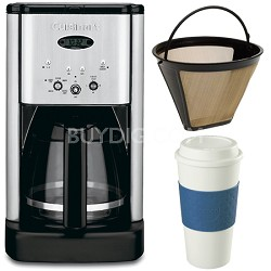 DCC-1200 Brew Central 12 Cup Coffeemaker Gold Tone Filter & 16 Oz. Mug Bundle