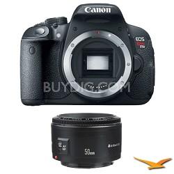 EOS Rebel T5i SLR Digital Camera and EF 50mm F/1.8 II Standard Auto Focus Lens