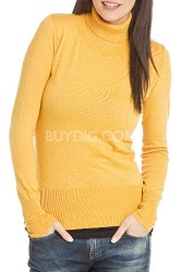 Turtleneck Sweater for Women - Color: Honey / Size: XLarge
