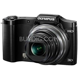SZ-11 14MP 20x Optical Zoom 3D HD Digital Camera - Black
