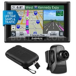 "nuvi 58LMT 5"" Essential Series 2015 GPS w Maps/ Traffic Vent Mount & Case Bundle"