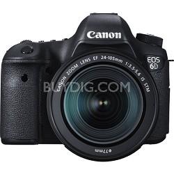 EOS 6D Full Frame 20.2 MP D-SLR with EF 24-105mm IS STM Lens Kit