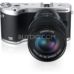 NX300 20.3MP CMOS Smart WiFi Compact Digital Camera with 18-55 Lens Black