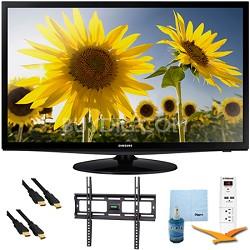 """28"""" LED 720p HDTV Clear Motion Rate 120 Plus Mount & Hook-Up Bundle - UN28H4000"""